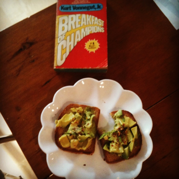 Breakfast of Champions: avocado on toast