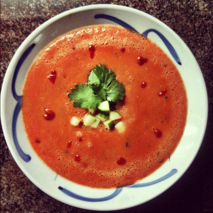sesame cilantro gazpacho