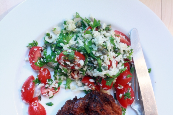 cauliflower tabbouleh - healthydelicious.ca