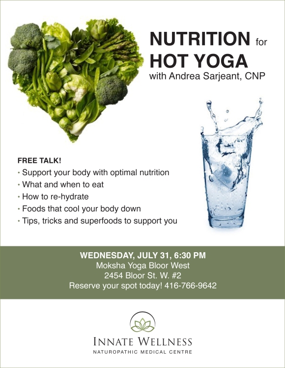 Nutrition for Hot Yoga Poster
