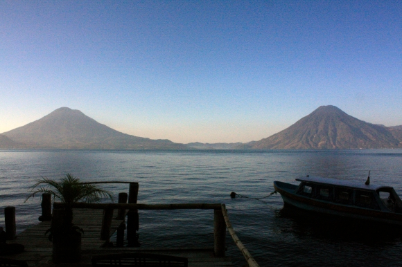 Lake Atitlán is a 2000' deep volcanic lake in the Guatemala highlands. It's a mysterious and magical place, and has been called the 'navel of the Mayan cosmos.'