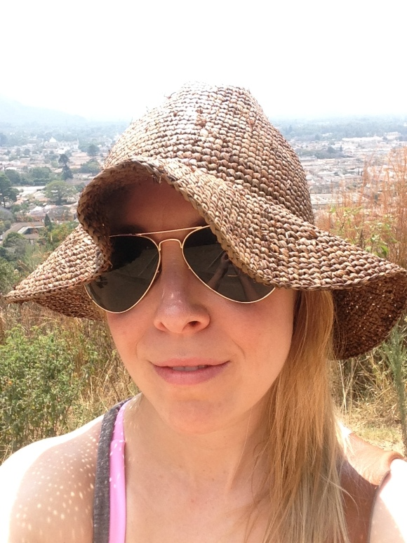 This is me on a hill overlooking the Spanish colonial city of Antigua. So beautiful!